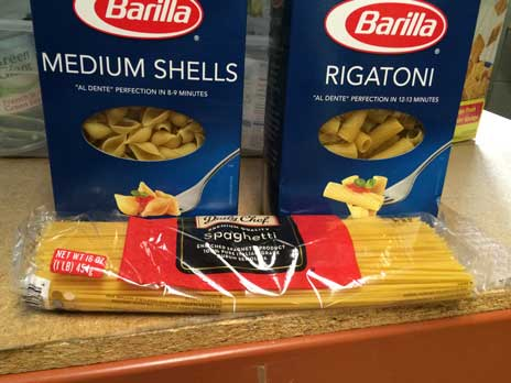 1lb box or bag - pasta