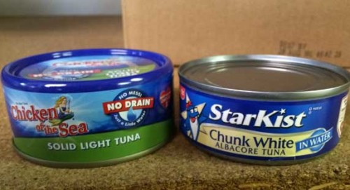 small cans of tuna